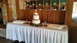 4 tier and sheet cakes