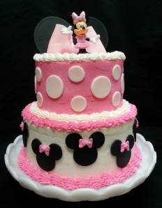 Minnie Mouse buttercream