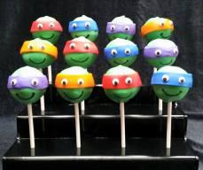 TMNT cake pops